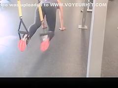 girls secretly filmed in the gym exercising