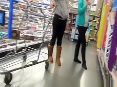 Teens in black leggings with nice asses