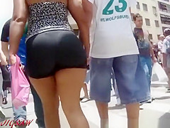 Candid big latina booty shopping