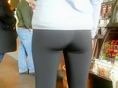 little ass chick in black leggings