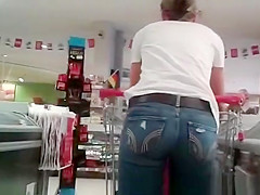 Tight jeans pants woman