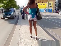 black woman with a nice ass in shorts