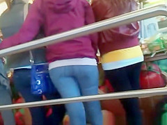 Teens in tight jeans pants