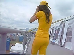 yellow spandex ass