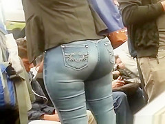 Big ass in tight jeans pants