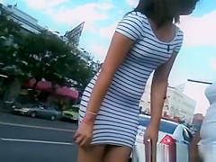 Sexy latina Teen in tight see through dress