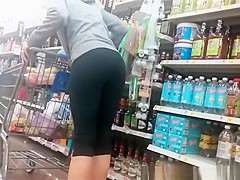 Nice ass chick in black leggings