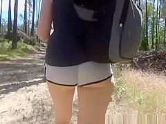 Short hair milf in tight shorts