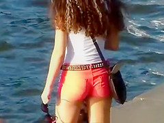 Nice ass in sexy shorts