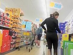 Tight short sports pants ass