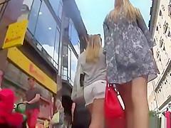 Teen with fresh ass under her short mini dress
