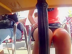 Under the table upskirt