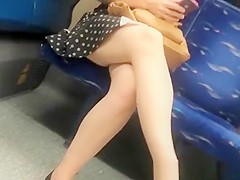 woman in short dress upskirt
