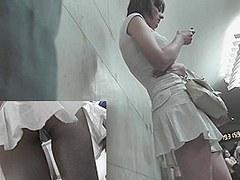 Strap panty up white linen petticoat