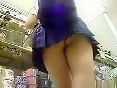 teen school uniform upskirted