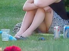 Look under skirt girl