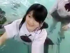 Upskirts under water