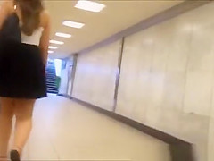 subway stairs short skirt upskirt