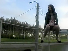 highway flasher upskirt no panties