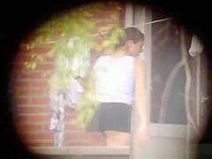 Sexy neighbor workout