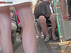 girl in mini skirt shows her amazing bum in upskirt vid