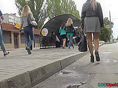 hot g string upskirt video of a stunning lassie