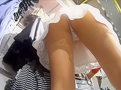 upskirt while she spends money