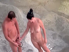 Silly naturists use a penis pump