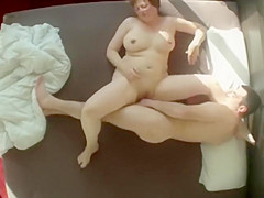 Cheating wife spied fucking her lover