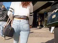 Redhead shorty got an amazing ass
