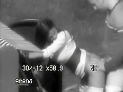 Police filmed sex on a parking lot