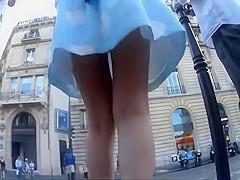 Hot ass under a very classy girl's skirt