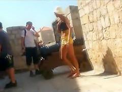 Creepshot of a hot tourist girl