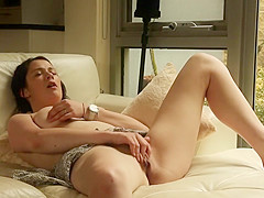 Caught her rub pussy in living room