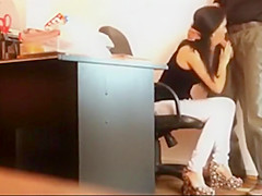 boss gets a blowjob from the secretary