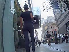 Stalking an ebony girl in tights
