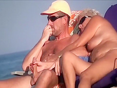 Mature woman sucks her man off