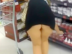 following a plump ass around the store