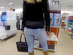 Hot girl in the appliances store
