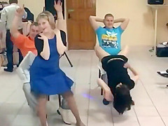 Lap dance competition on a wedding