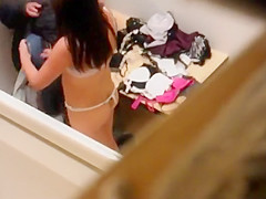 spying mom picking clothes for daughter
