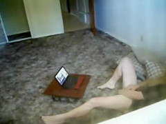peeping the neighbor girl video chatting