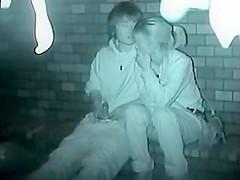 Drunk teenage couple late at night