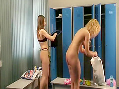 slim naked girls in the locker room