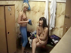 Astonishing girls nude in the locker room