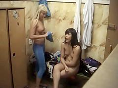 Astonishing girls nude in the locker room