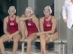 Sexy waterpolo girls during the match