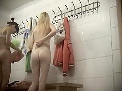 Naked girls in the female locker room
