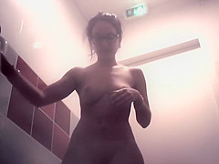 College girl washes her hot pussy