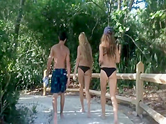 Patrolling for young asses in bikinis